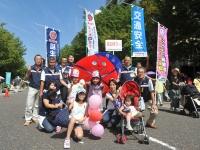 赤帽は知名度も抜群!ゆるキャラ「あかぼうくん」も横浜の交通安全イベントで大人気!
